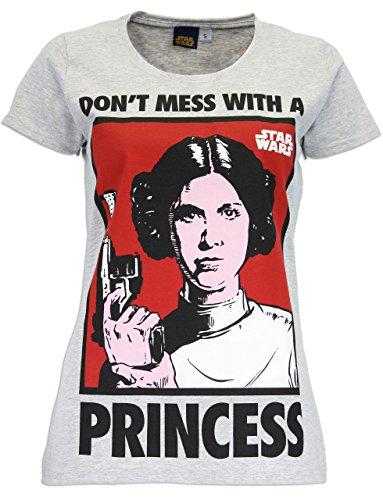 Star Wars - Camiseta para mujer de la Princesa Leia - Talla Small