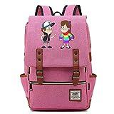 Anime Gravity Falls Casual Daypack, Mochila Escolar universitaria para Hombres niños niños al Aire Libre Camping Senderismo Daypack 14 Pulgadas. Color-10.