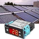 Contrôleur Thermostat Numérique, Keenso Thermostat de Contrôleur de Différence de Température Polyvalent AC 220V 5A avec Sonde pour Chauffe-eau Solaire EW-801AH