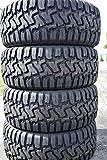 Set of 4 (FOUR) Haida HD878 R/T All-Terrain Mud Off-Road Light Truck Radial Tires-33X12.50R24LT 33X12.50X24 33X12.50-24 104Q Load Range E LRE 10-Ply BSW Black Side Wall