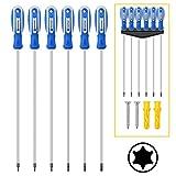 Amartisan 6-Piece Extra Long Torx Screwdrivers Set, length 12''(300mm) T10 - T30, Long Long star Screwdrivers Set
