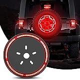 Nilight - TL-12 Spare Tire Brake Light Wheel Light 3rd Third Brake Light for Wrangler 2007-2018 JK JKU YJ TJ, Red Light