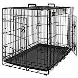 FEANDREA Cage pour Chiens, 2 Portes, Pliable, Transportable, avec...