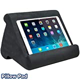 Ontel Pillow Pad Multi-Angle Soft Tablet Stand, Charcoal Grey