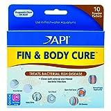 API FIN & BODY CURE Freshwater Fish Powder Medication 10-Count Box