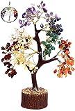 KACHVI rbol de Cristal rbol de Cristal de Siete Chakras para decoracin de Oficina en casa. Bonsai Money Tree para Piedras y Cristales curativos de energa 500 Cuentas de Alambre de Oro