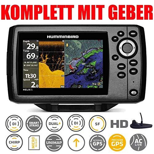 Ecoscandaglio GPS HUMMINBIRD HELIX 5 G2 CHIRP DI trasduttore poppa