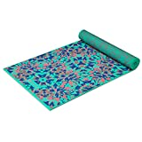 Gaiam Yoga Mat Premium Print Reversible Extra Thick Non Slip Exercise & Fitness Mat for All Types of Yoga, Pilates & Floor Workouts, Kaleidoscope, 6mm