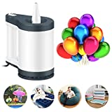 VEEAPE Electric Balloon Pumps Portable Quick-Fill Inflatable Bed Pump with 5 Nozzles,Air Pump Air Mattress Blower for Inflatables, 110V AC/12V DC, Inflator/Deflator Vacuum Storage Bags