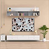 Aavya Unique Fashion 42 Inch Transparent LCD/LED TV Monitor Cover for 2 Layer dust Proof & Water Proof Smart LED/LCD TV Monitor Cover,33,White::Brown
