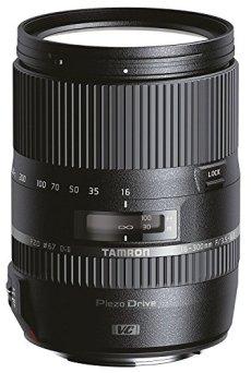 Tamron AF 16-300 mm F/3.5-6.3 Di II VC PZD MACRO - Objetivo para cámara réflex Canon (zoom óptico 18.75x, motor de enfoque, diámetro filtro 67 mm), color negro
