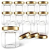 GoJars Hexagon Glass Jars for Gifts, Weddings, Honey, Jams, and More
