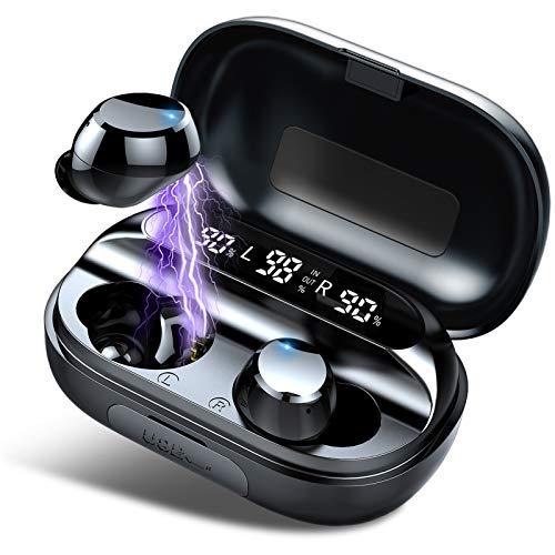 Écouteurs Bluetooth, IPX7 Etanche Casque Bluetooth, 150H Stéréo Casque sans Fil, 3500mAh Etui de Charge, Oreillette Bluetooth Sport avec Mic, pour la Courir/Jeu/Travail