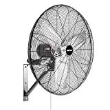 OEMTOOLS 24 Inch High-Velocity Indoor Oscillating Wall Mount, New Model Commercial Fan, Black