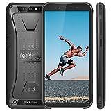 Telephone Portable Incassable, Blackview BV5500 Ecran 5.5 Pouces HD+18:9, 16Go ROM + 2Go RAM et 4400mAh Batteries, Android 8.1 avec Cameras 5MP + 8MP&0.3MP, GPS, 3G Smartphone Etanche - Noir