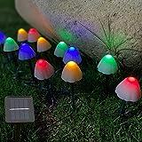 Kagoohan24feet12LEDOutdoorSolarStringMini MushroomLights 8Modes...image