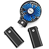 OPOLAR 10400mAh Battery Operated Fan, Portable Handheld Fan with 10-40 Hours Working Time,3 Setting, Strong Wind,Foldable Design, for Travel, Camping and Outdoor Activities