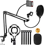 Microphone Stand, Magicfun Mic arm Desk Adjustable Suspension Boom...