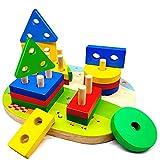 Jouets en Bois Enfant 1 2 3 4 ans, Jouet Montessori de Développement Éducatif...