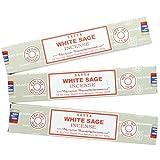 Satya Nag Champa Bâtons d'encens Sauge Blanc–Lot de 3