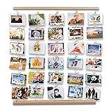 Uping Cadre Photo Pêle-Mêle Cadre Photo Mural avec Corde et Porte Photo...