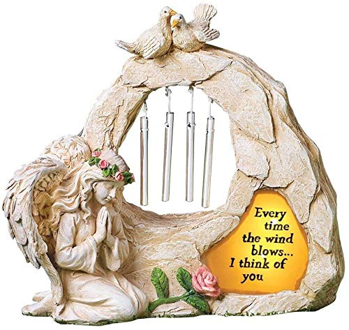 Angel Garden Statues Sympathy Gift with Solar - Cementary...