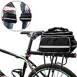 FLYDEER Bicycle Bag Outdoor Waterproof Bike Rack Bag Bike Pannier Large Capacity Bike Bag with Rainproof Cover & Reflective Trim, Panniers Bag for Bicycles