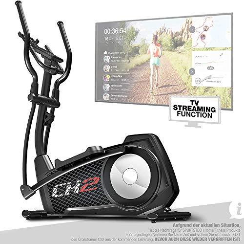 Sportstech CX2 Crosstrainer für Zuhause | mit Stromgenerator | Deutsches Qualitätsunternehmen | Interaktive...
