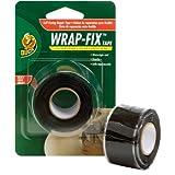 Duck Brand 442055 Wrap-Fix Repair Tape, 1-Inch by 10 Feet, Single Roll, Black