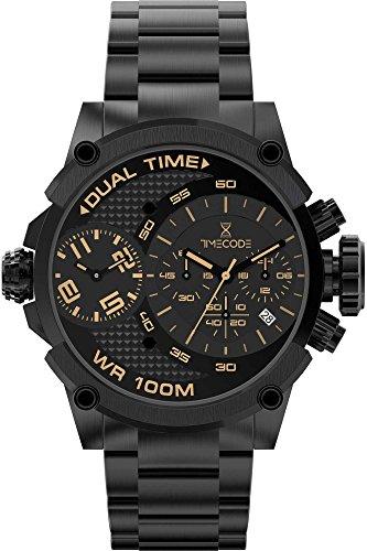 Timecode Albert 1905 Herren-Armbanduhr Chronograph Dual Time Quarz TC-1003-05