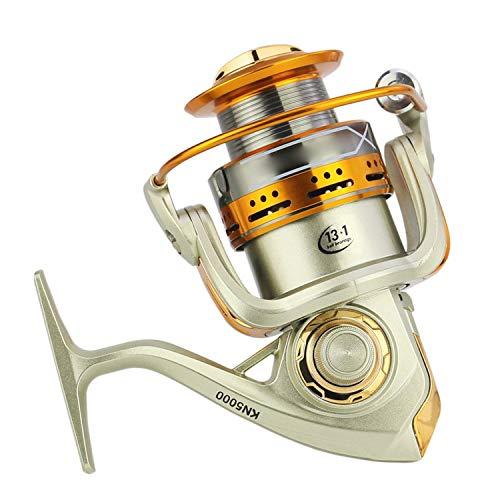 Mulinello da Pesca ad Alta velocit con Ruote 6,3:1 13+1Bb 2000-7000 Series Spinning Wheel Type Sea Rock Lure Fishing Reels, Come da Immagine, 6000 Series