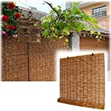 Patio Roll Up Blinds, Brown Window Blind Sun Shade, Bamboo Roller Blackout Shades, Pull Shade Privacy Screen for Outdoor Porch Pergola Balcony, 36 x 64, 26 x 48in