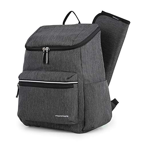mommore Diaper Bag Backpack Lightweight Travel Back Pack Baby Nappy Bags, Large Capacity Black
