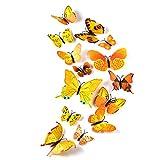 TUPARKA 36 Pièces 3D Papillon Stickers Muraux Mur Papillons Filles...