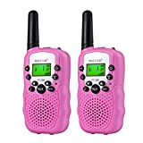 Proster Kids Walkie Talkies New Version LCD 22 Channels Wireless Walky Talky Toy Two-Way Radios for Children Friends Family Activities Outdoor Play