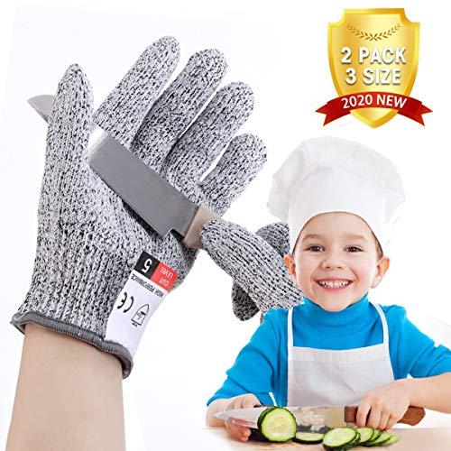 LIUMY Schnittsichere Handschuhe für Kinder, Schutzstufe 5 Level, geeignet für (3~5 Jahre Kinder), zum Kochen, Schneiden und Gartenarbeite verwenden
