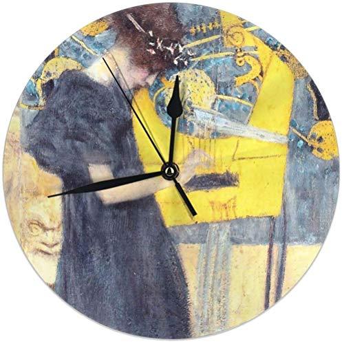 Oh Sweety HD. Music, di Gustav Klimt Orologio da Parete Rotondo ad Alta Definizione per la casa 9.84...