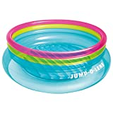 Intex Jump-O-Lene Inflatable Bouncer, 80' x 27', for Ages 3-6, Colors May Vary