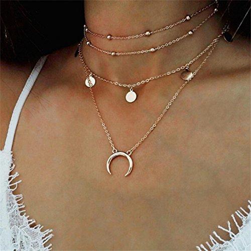 Yolandabecool, collana da donna, alla moda, multistrato, affascinante, ottima idea regalo G