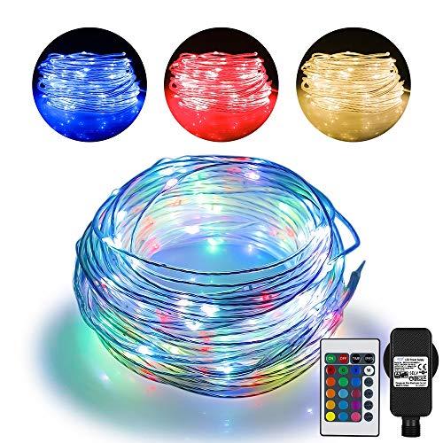 20m LED Schlauch Lichterkette Außen, Lichtschlauch mit 200 LED, 16 Farben 4 Modi Wasserdicht Lichterschlauch Outdoor mit Stecker für Weihnachten, Garten, Weihnachtsbaum, Terrasse, Balkon, Zelten,Party