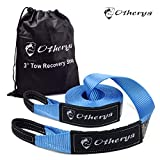 Recovery Tow Strap 3'' x 30 ft - Lab Tested 30,000lb Break Strength - Heavy Duty Draw String Bag Included - Triple Reinforced Protective Loop - Ensure Peace of Mind - Emergency Off Road Towing Rope