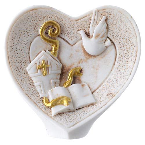 Dolce idea CIALDA in Ostia per la Santa CRESIMA Personalizzabile Forma Rotonda diam. 20 cm, Decorazione per Torta
