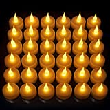 LED Candles, Lasts 2X Longer, Realistic Tea Light Candles, Flameless Candles to Create a Warm Ambiance, Flickering Bright Tealights,Battery Operated Candles,Unscented, Batteries Included (36)
