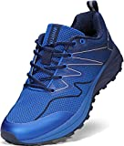 WHITIN Mens Trail Running Jogging Shoes, Size 8.5 Lightweight Athletic Breathable Arch Support Comfortable Workout Treadmill Mesh Hiking Sneaker for Male Gym Tennis Footwear Casual Blue 42