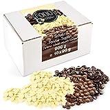 Sweet Wishes 900g Chocolat à Fondue de Belgique Mélange de Chocolat au Lait - Noir & Blanc - Pour les Fontaines de Chocolat et Kits de Fondue - Pepites de Chocolat pour Cookies