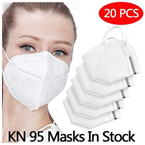Anti Pollution N95 Mask,AUSDIN N95,FFP2 Anti Pollution Mask Dust-Proof and Anti Smoke Mask 98% filtration effect,Unisex,for Outdoor Construction,Paint, Gardening,DIY,Home 20 pack