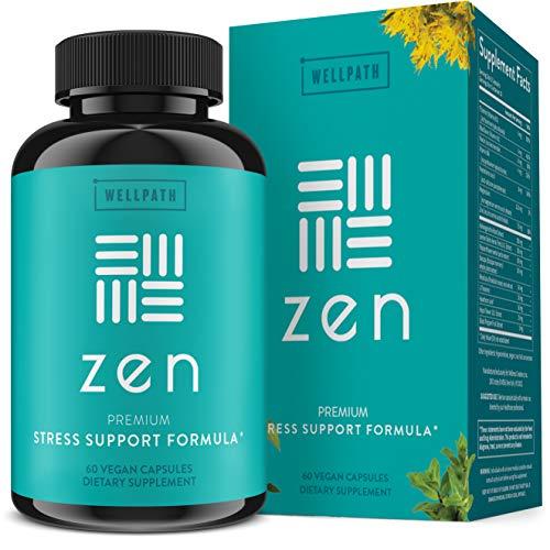 Zen Anxiety and Stress Relief Supplement - Premium Herbal...