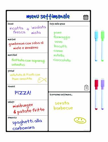 Smart Panda Lavagna Calendario Magnetico Frigorifero - Perfetta per Pianificare I Pasti, Segnarsi La...