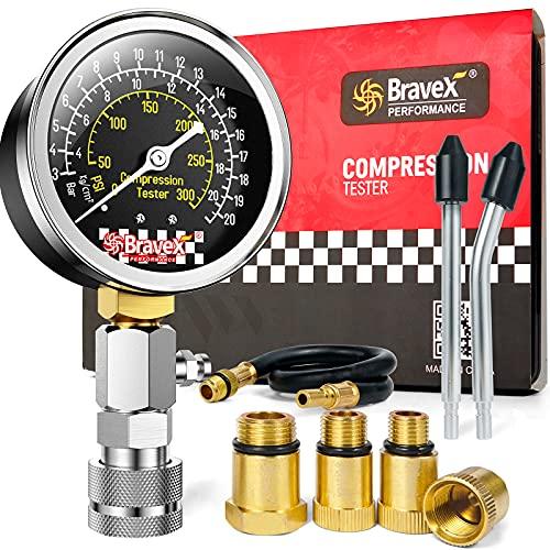 Bravex 8PCS Compression Tester Kit - Petrol Engine...