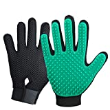 2020 New Version Pet Grooming Brush, Enhance Pet Grooming Glove with 255 Tips, Deshedding Glove for Dog and Cat, Left & Right Gentle De-Shedding Glove Brush
